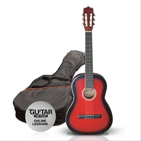 SPCG14TRB - Pack Guitarra Clasica 1/4 Spcg12TRB ROJA - Ashton