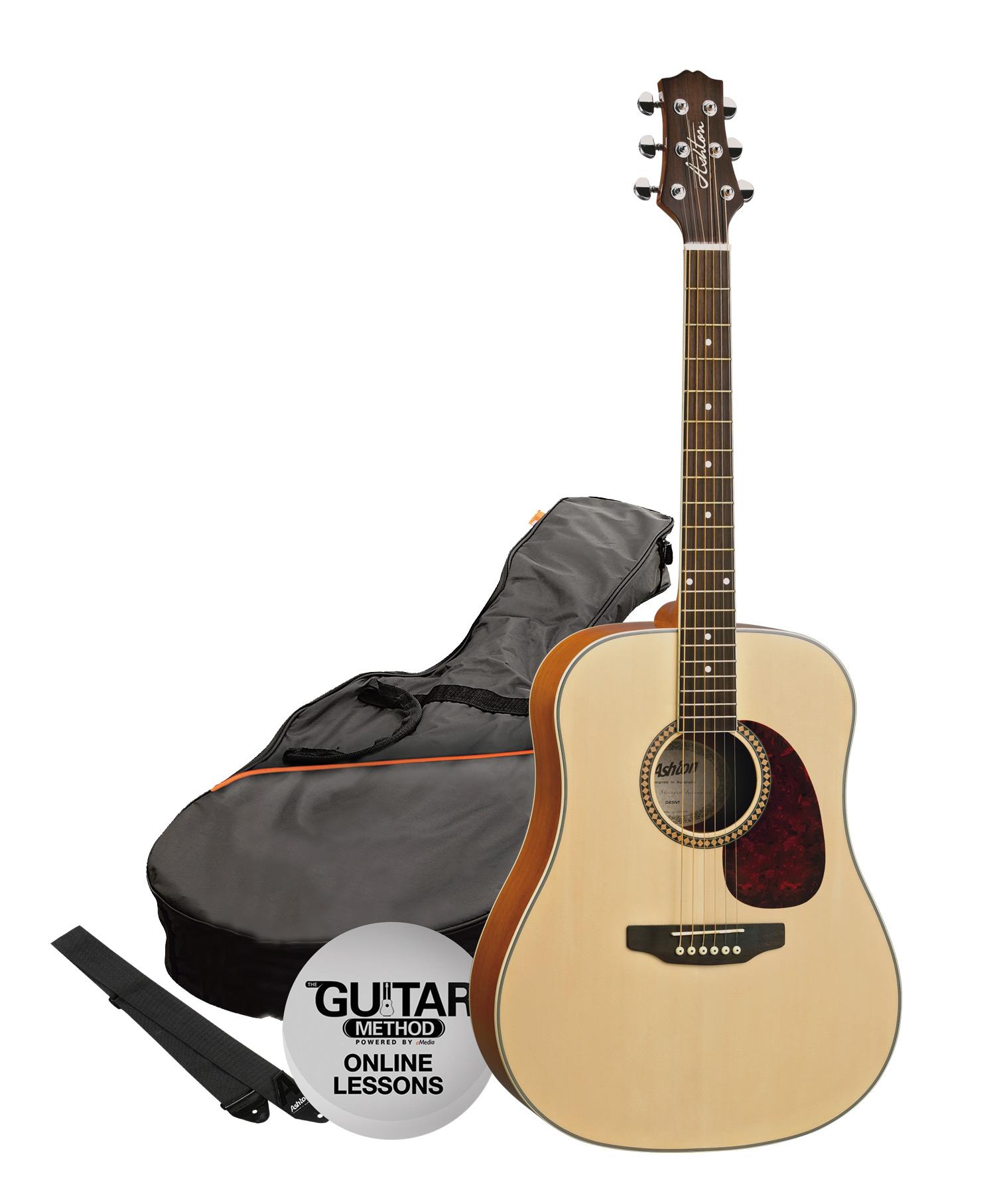 SPD25NTM - Pack Guitarra Acustica Dreadnought Natural Mate - Ashton