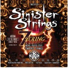 KQXS7-1056 JUEGOS DE CUERDAS GUITARRA ELECTRICA KERLY USA SINISTER NICKEL STRINGS 7 STRING MED 10-56