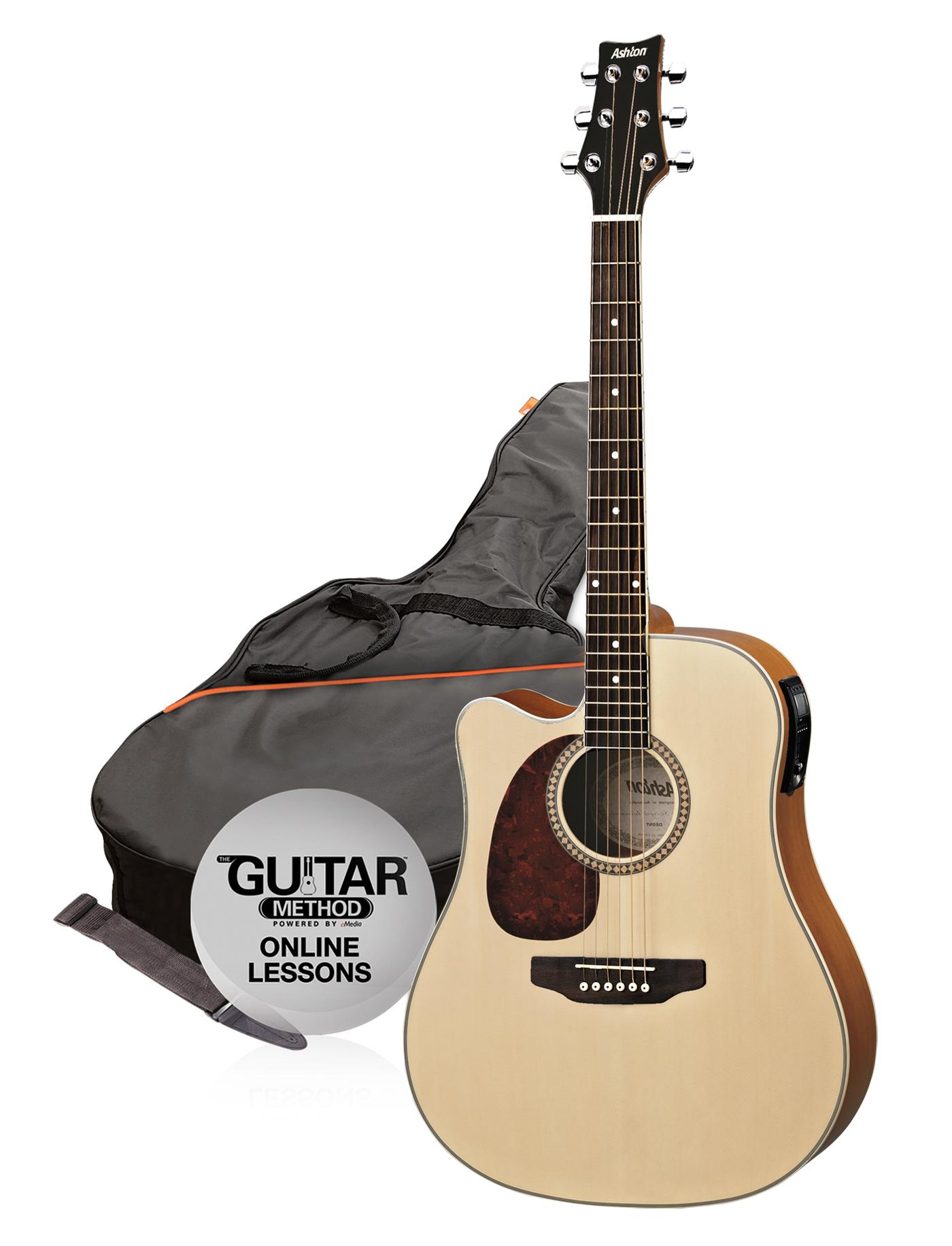 SPD25CEQLNTM - Pack Guitarra Electroacustica Natural Mate Zurdo Spd25Ceql-Ntm - Ashton