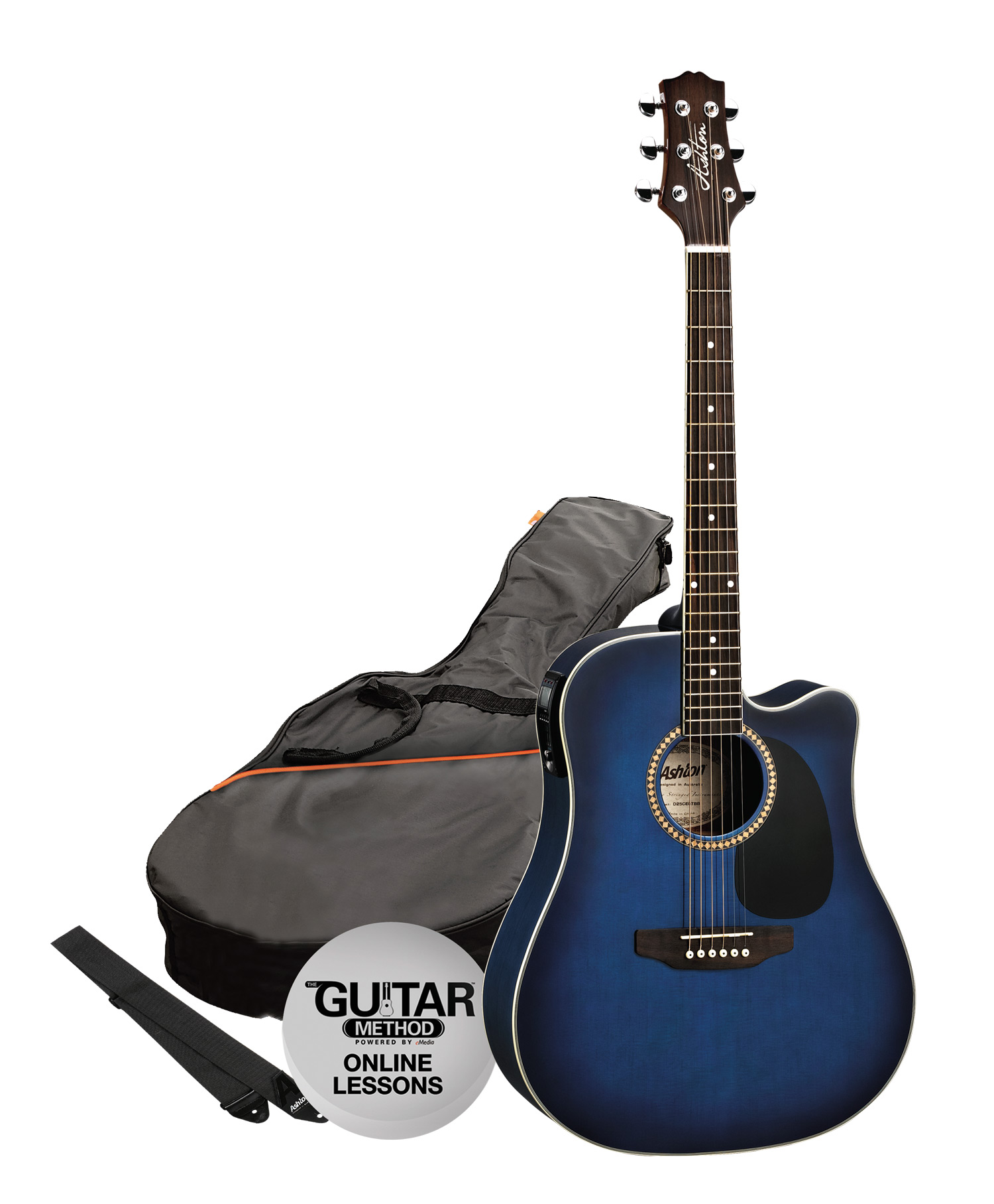 SPD25CEQTBB - Pack Guitarra Electroacustica Dreadnought Azul - Ashton